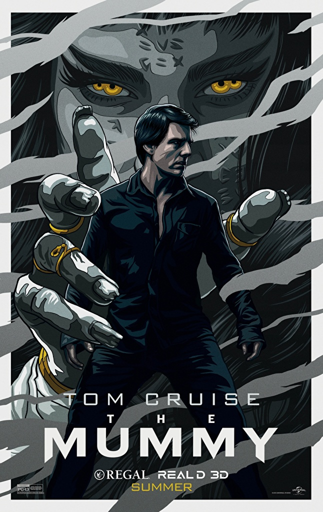 Photo The Mummy 2017 Tom Cruise Movies Supernatural beings Painting Art  for Mobile phone film