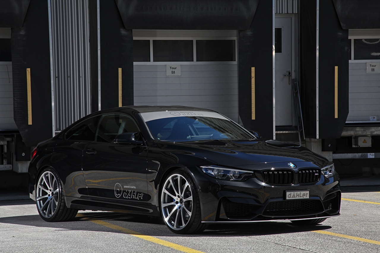 Photo BMW 2017 M4 Coupe Competition Package Black Cars Metallic auto automobile