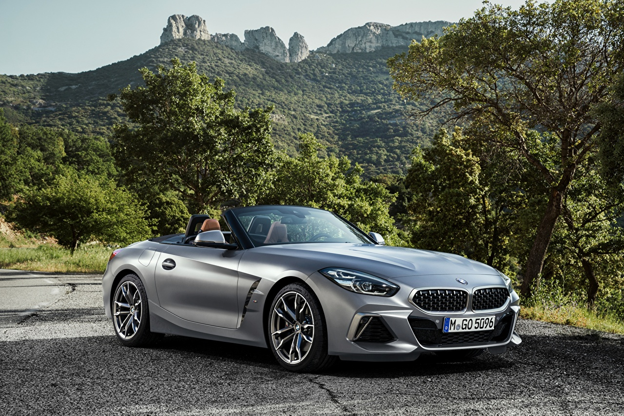 Picture BMW Z4 M40i Z4 2019 G29 Roadster Silver color automobile Cars auto