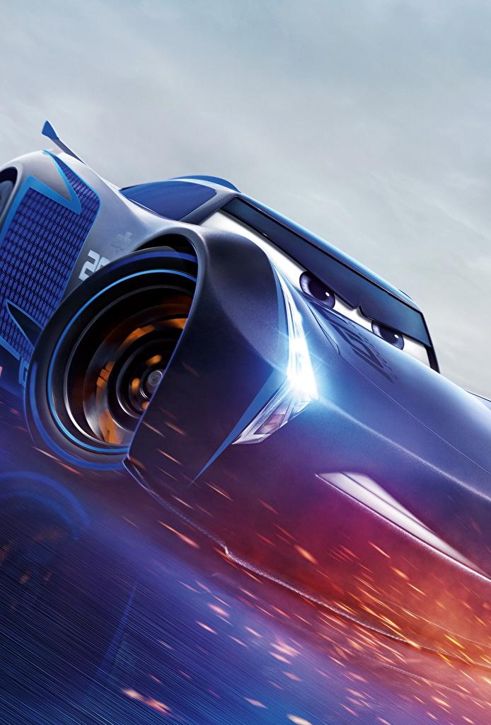 Foto Cars 3 Jackson Storm Blau Animationsfilm Zeichentrickfilm
