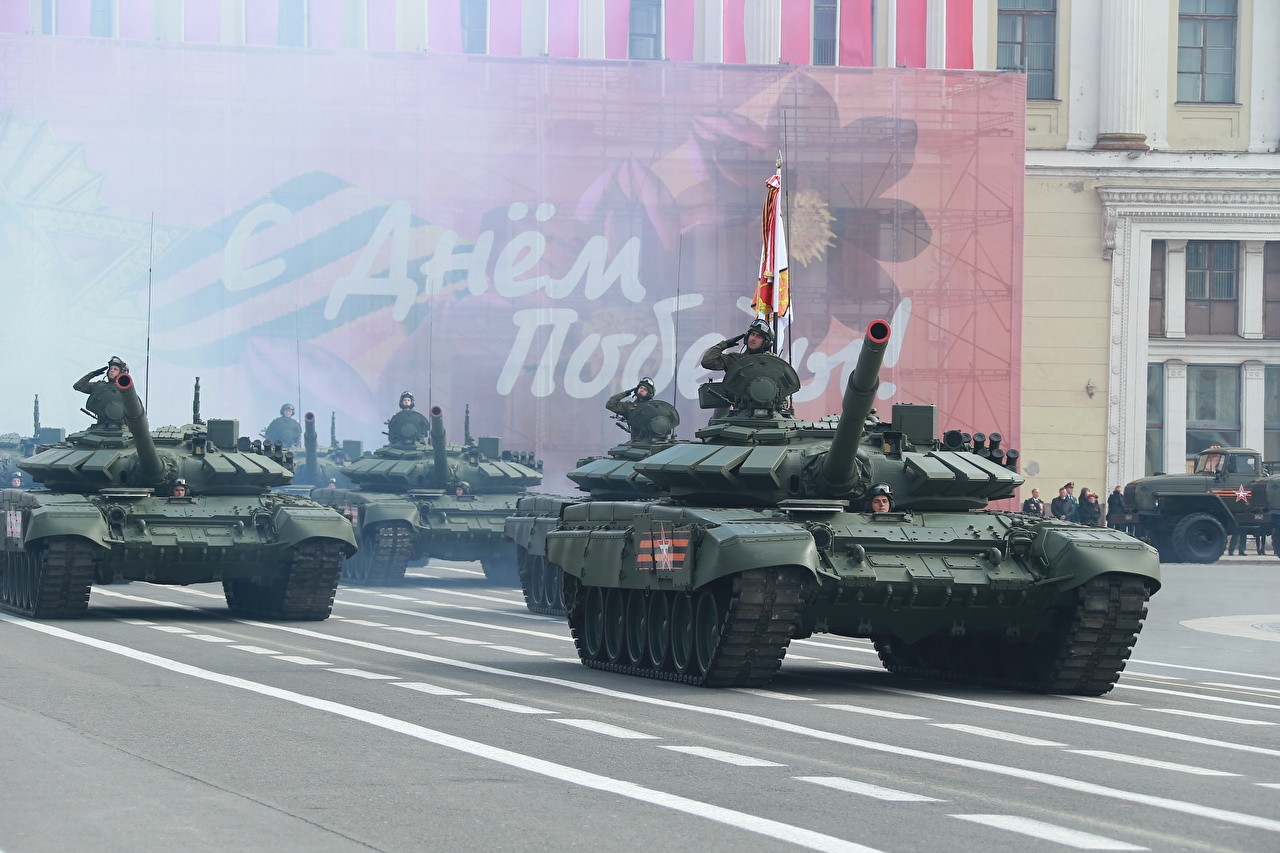 Photo T-72 Victory Day 9 May tank Russia Military parade Russian military Tanks Army