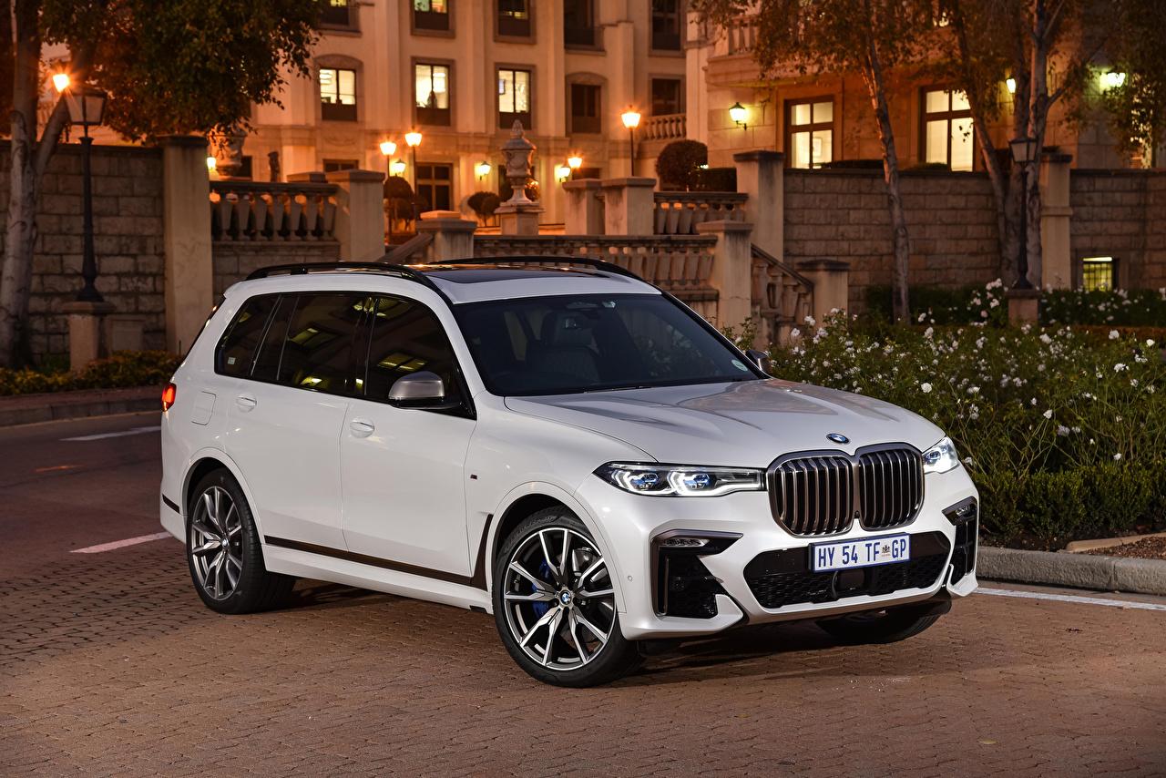 BMW 2019-21 X7 M50d Crossover Metálico Branco carro, automóvel, automóveis Carros