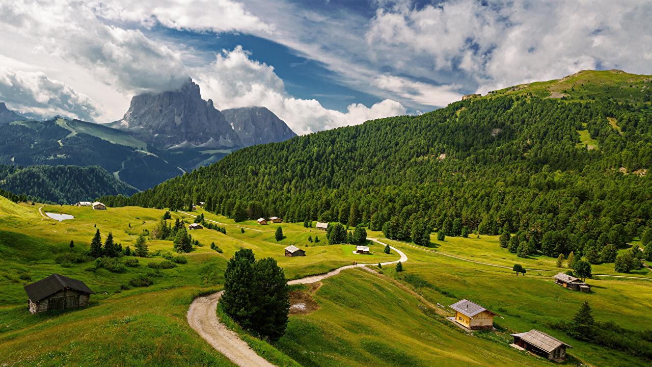Bilder Alpen Italien Trentino-Alto Adige Natur Gebirge Straße Landschaftsfotografie Wolke Berg Wege
