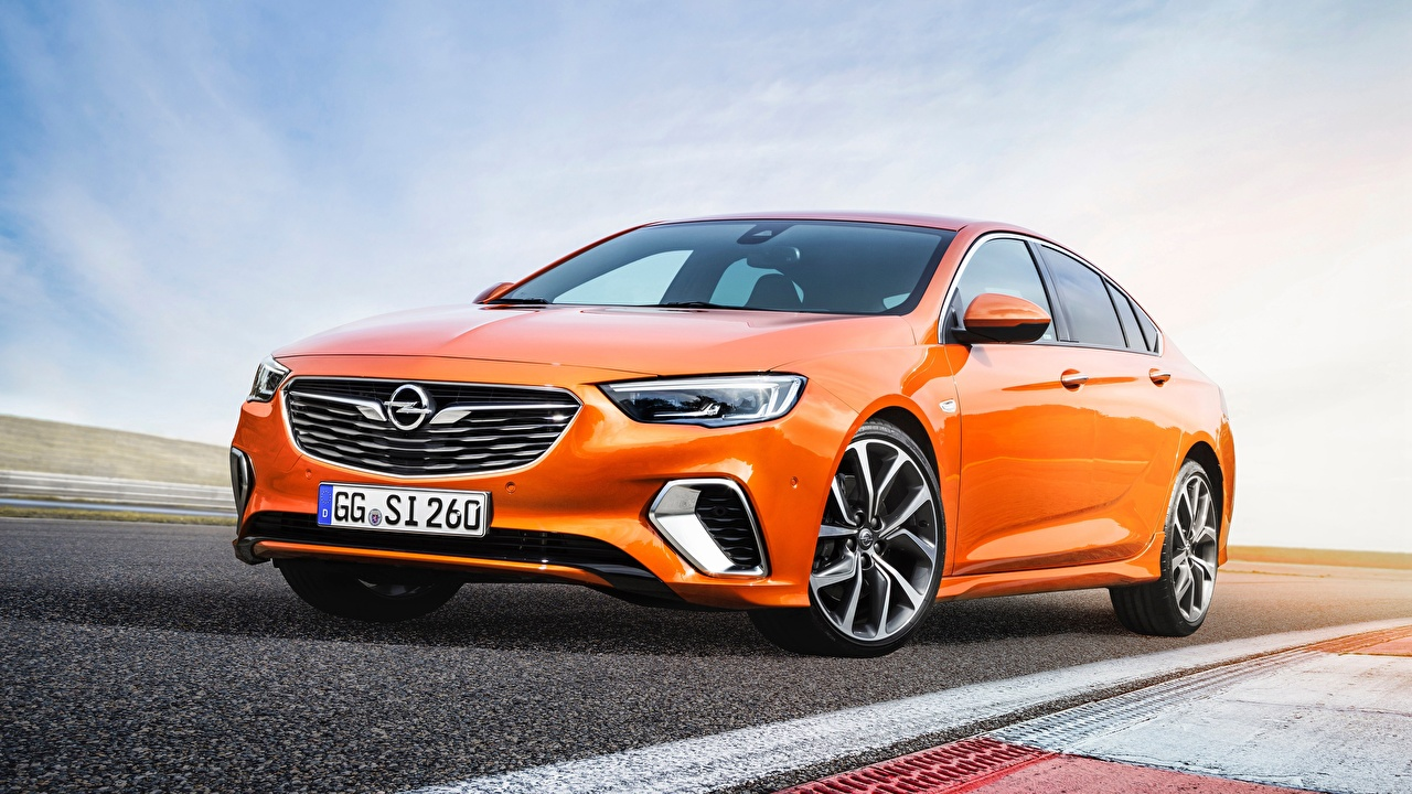 Picture Opel 2018 Insignia GSi Sedan Orange automobile Cars auto