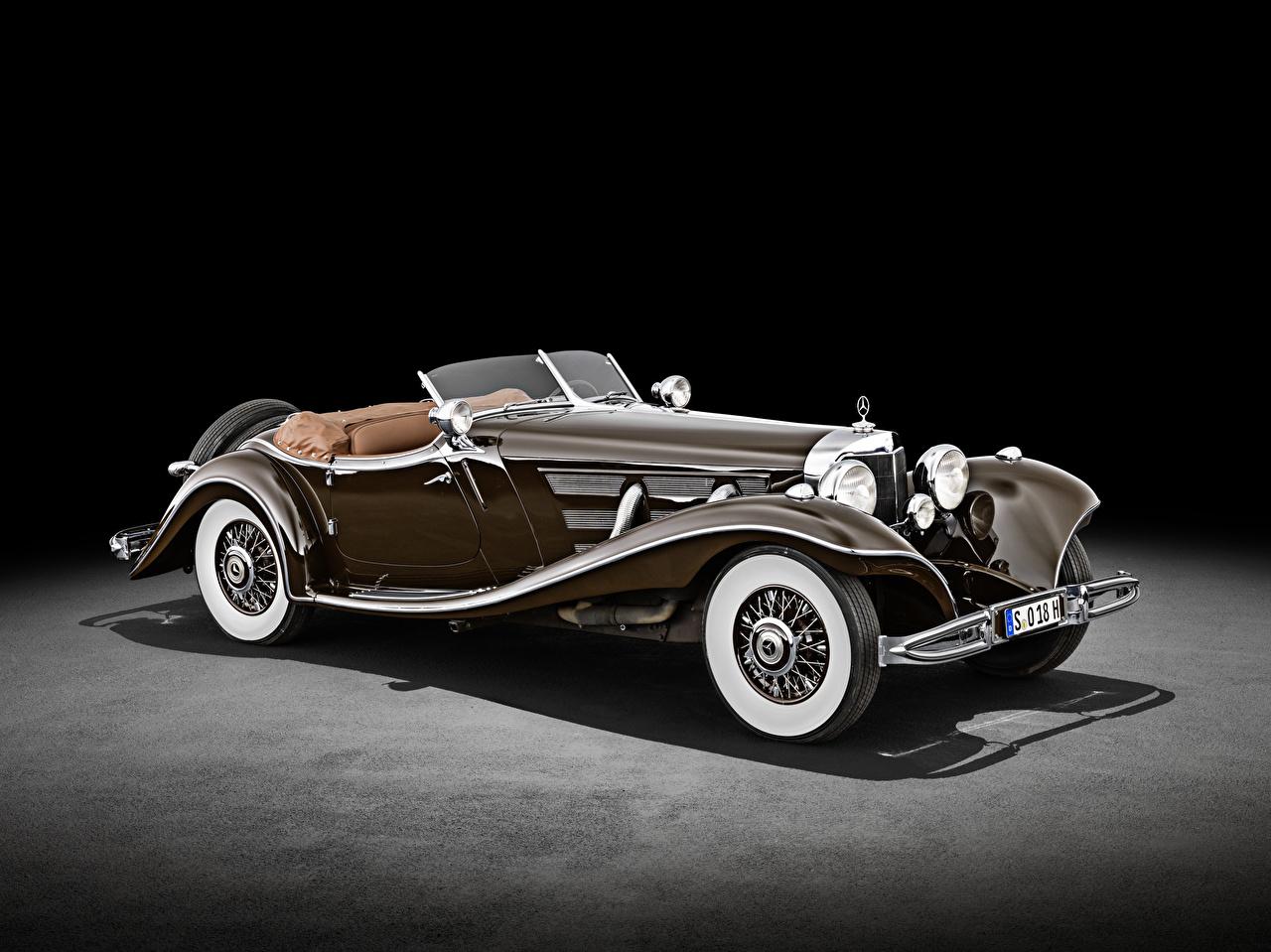 Pictures Mercedes-Benz 500 K Special Roadster (W 29), 1934 Retro Brown Cars vintage antique auto automobile