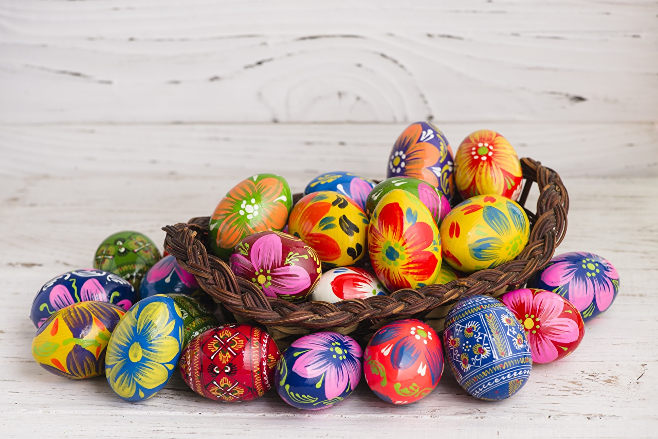 Foto Ostern Bunte eier Mehrfarbige Ei