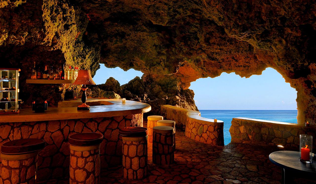 Bakgrundsbilder Negril Jamaica Kafé Interiör