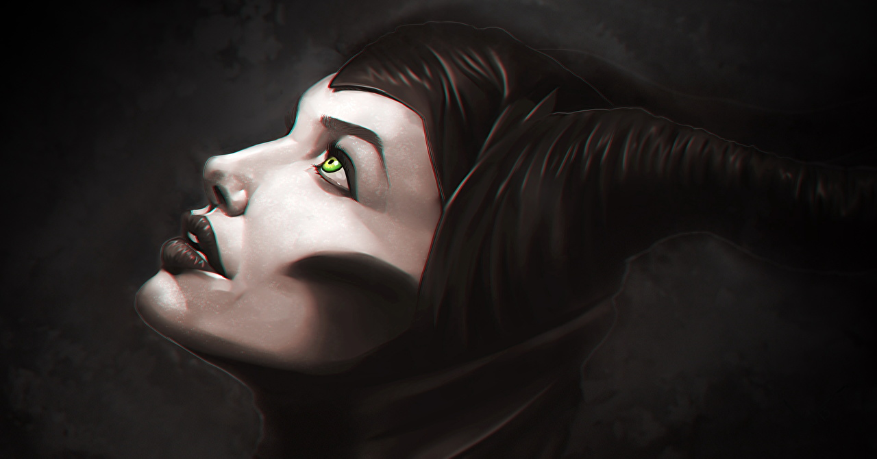 Desktop Wallpapers Maleficent Film Angelina Jolie Face