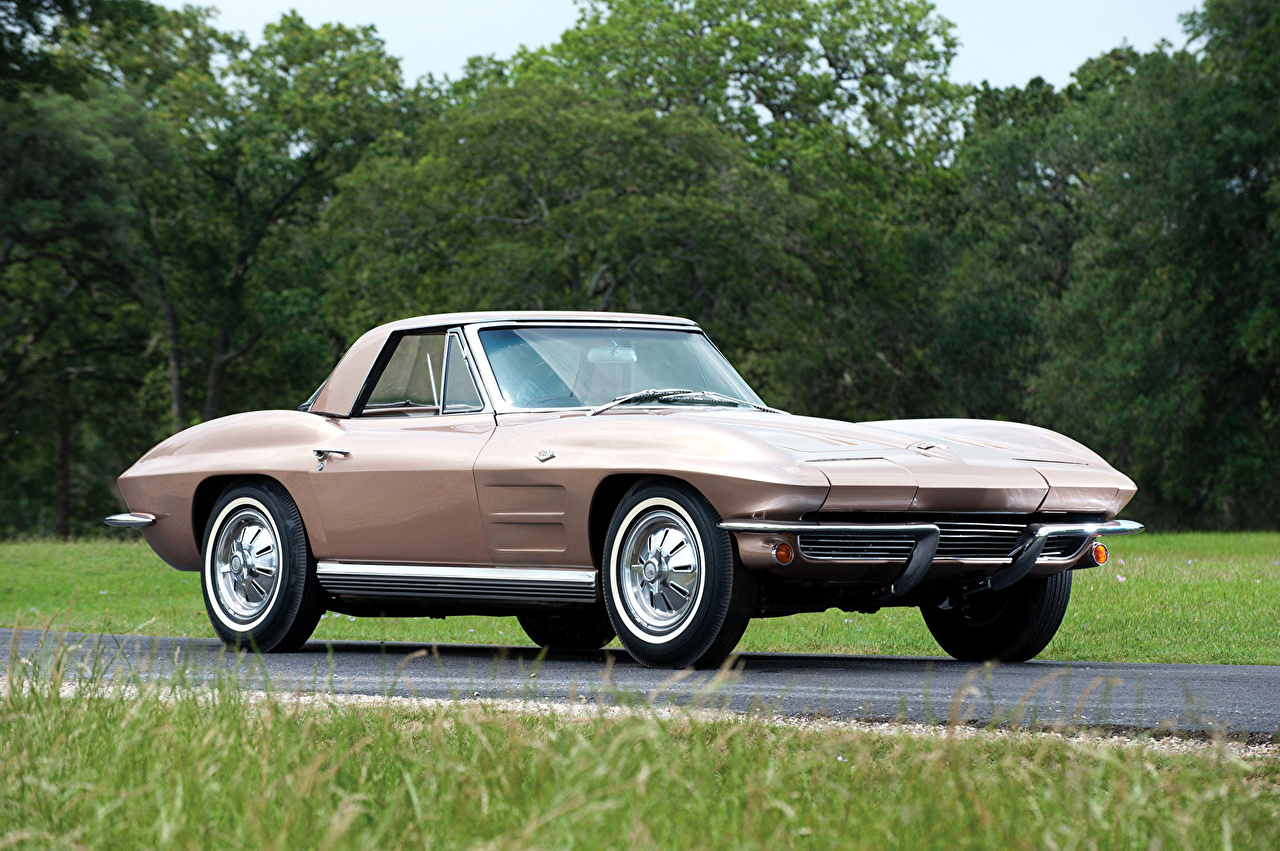 Images Chevrolet 1964 Corvette Sting Ray Convertible vintage automobile Retro antique Cars auto
