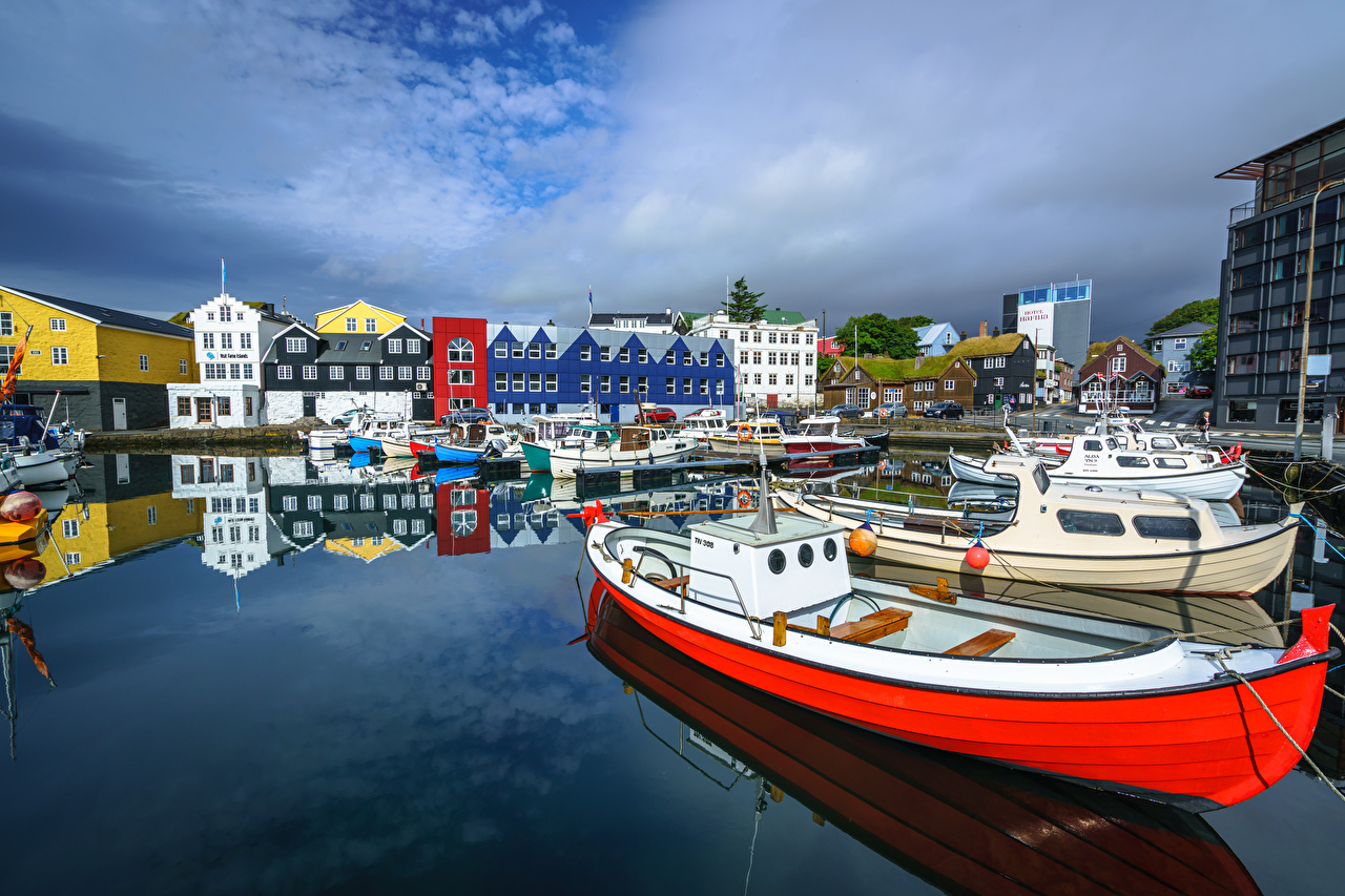 Photos Denmark Berth Boats Yacht Cities Building Pier Marinas Houses