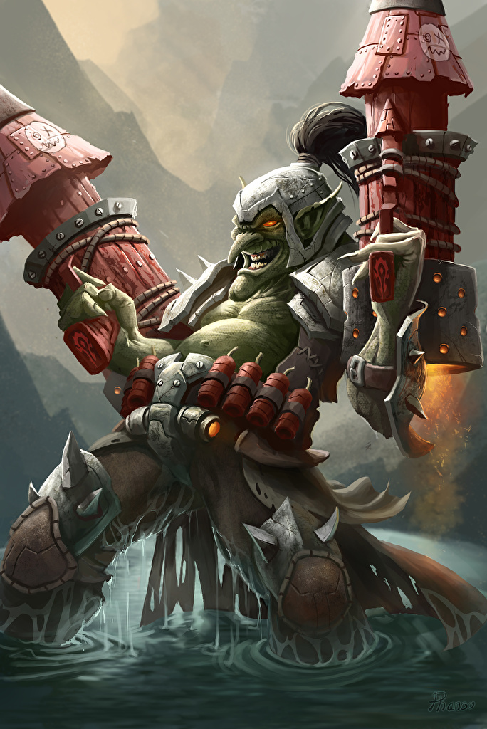 Wallpaper Hearthstone: Heroes of Warcraft Goblin warrior Fantasy vdeo game  for Mobile phone Warriors Games