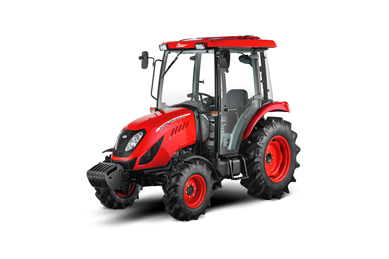 Picture Tractor Zetor Utilix CL 55, 2019 Red White background tractors