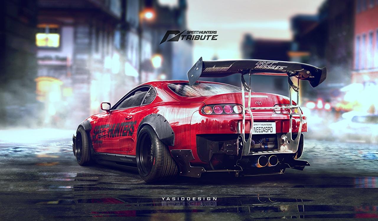 壁紙 トヨタ自動車 Supra Jz 2jz Speedhunters Need For Speed Spoiler Drift Yasid Design 赤 の背面図 自動車 ダウンロード 写真