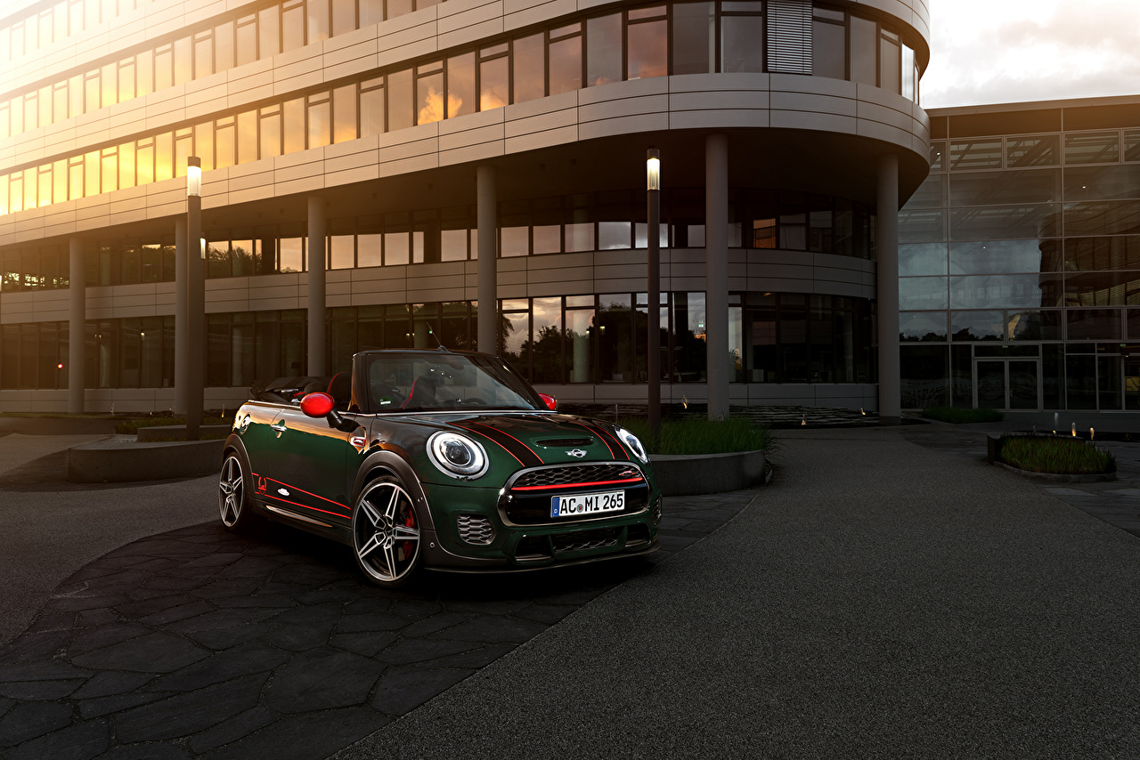 Desktop Wallpapers Tuning 2016 AC Schnitzer Mini Cooper Works Cabriolet Green Cars Convertible auto automobile