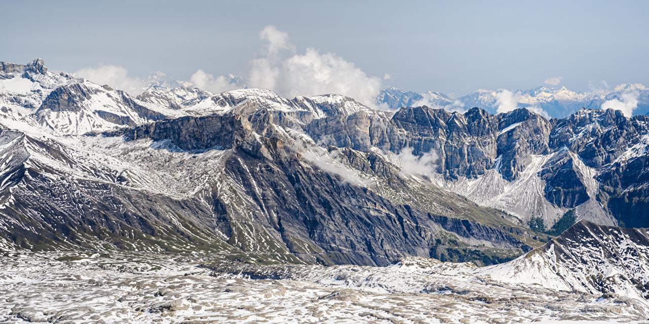 Image Alps Switzerland Panorama Gryon Nature Mountains panoramic mountain