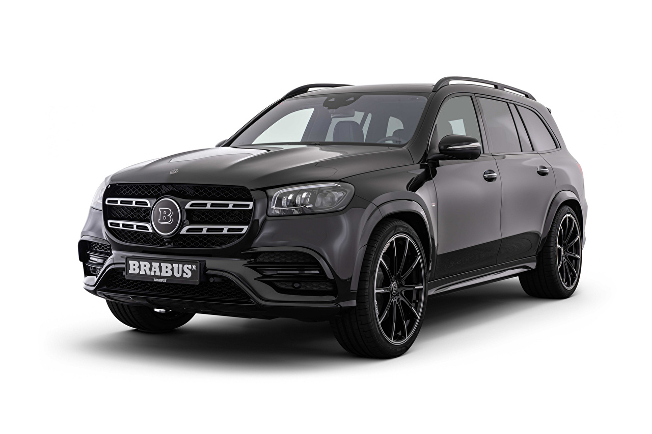 Image Mercedes-Benz Brabus 550 (X167), 2020 Black Cars Metallic White background auto automobile