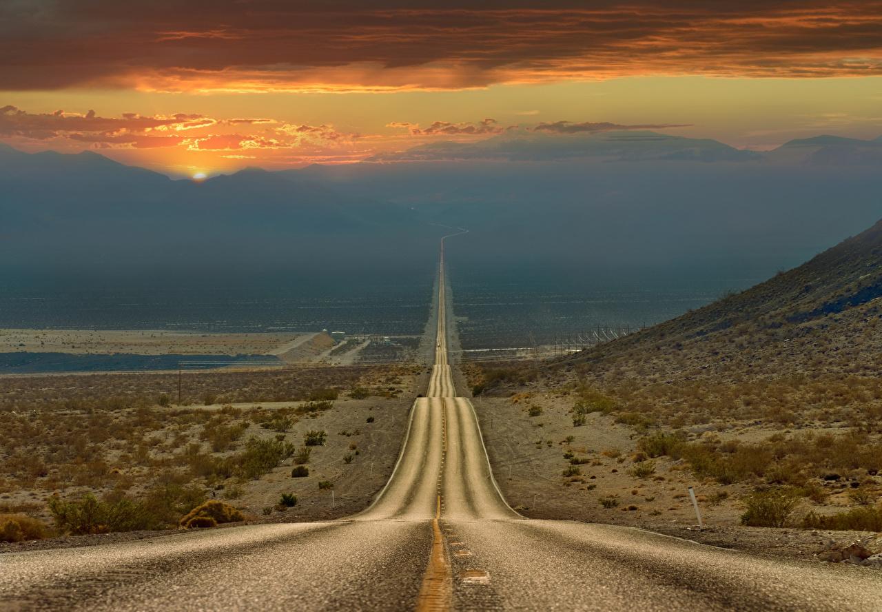 壁紙 道 アメリカ合衆国 砂漠 カリフォルニア州 自然