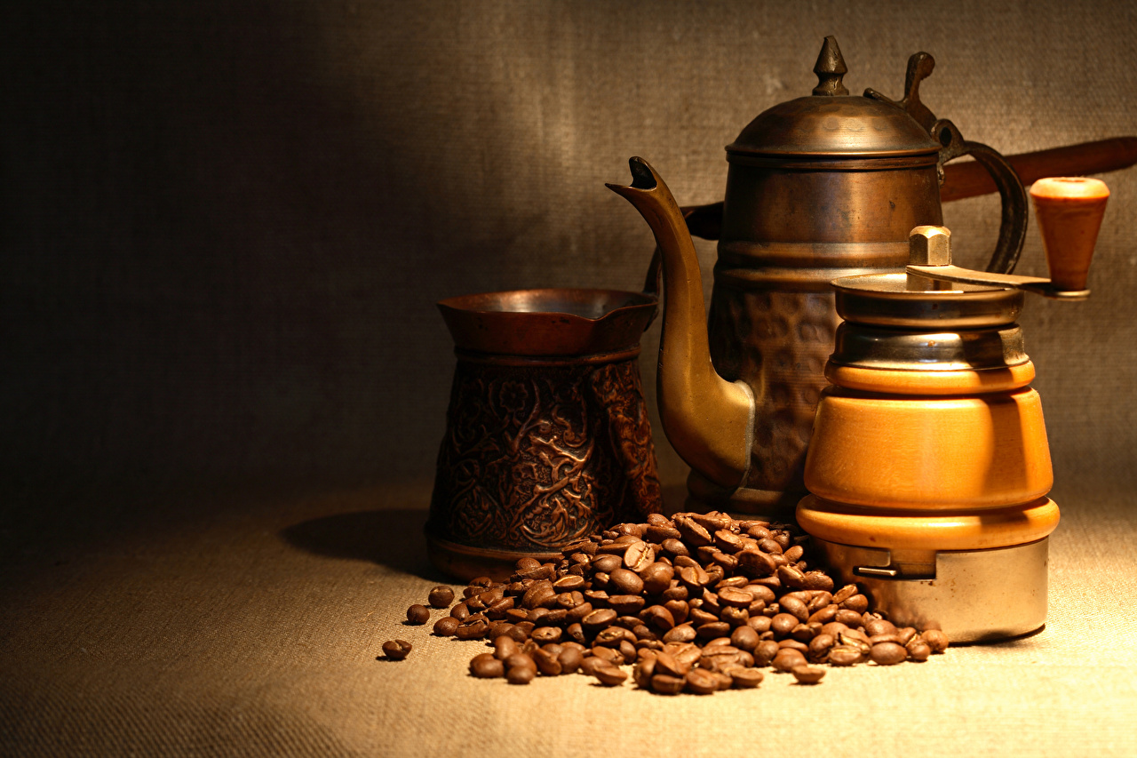 Fotos Kaffee Getreide Flötenkessel das Essen Pfeifkessel Wasserkessel Lebensmittel