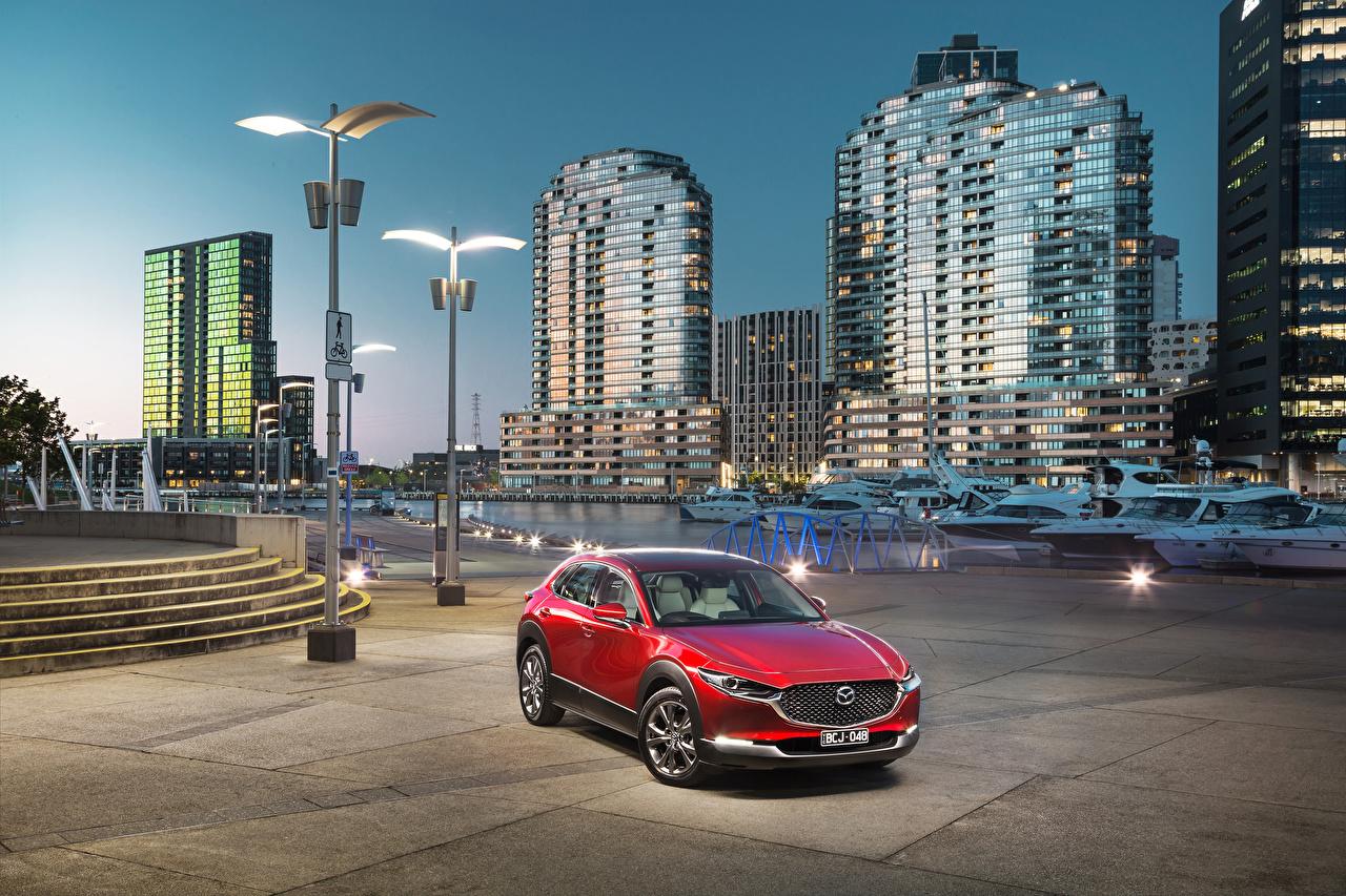 Desktop Wallpapers Mazda 2019-20 CX-30 Red Metallic automobile auto Cars