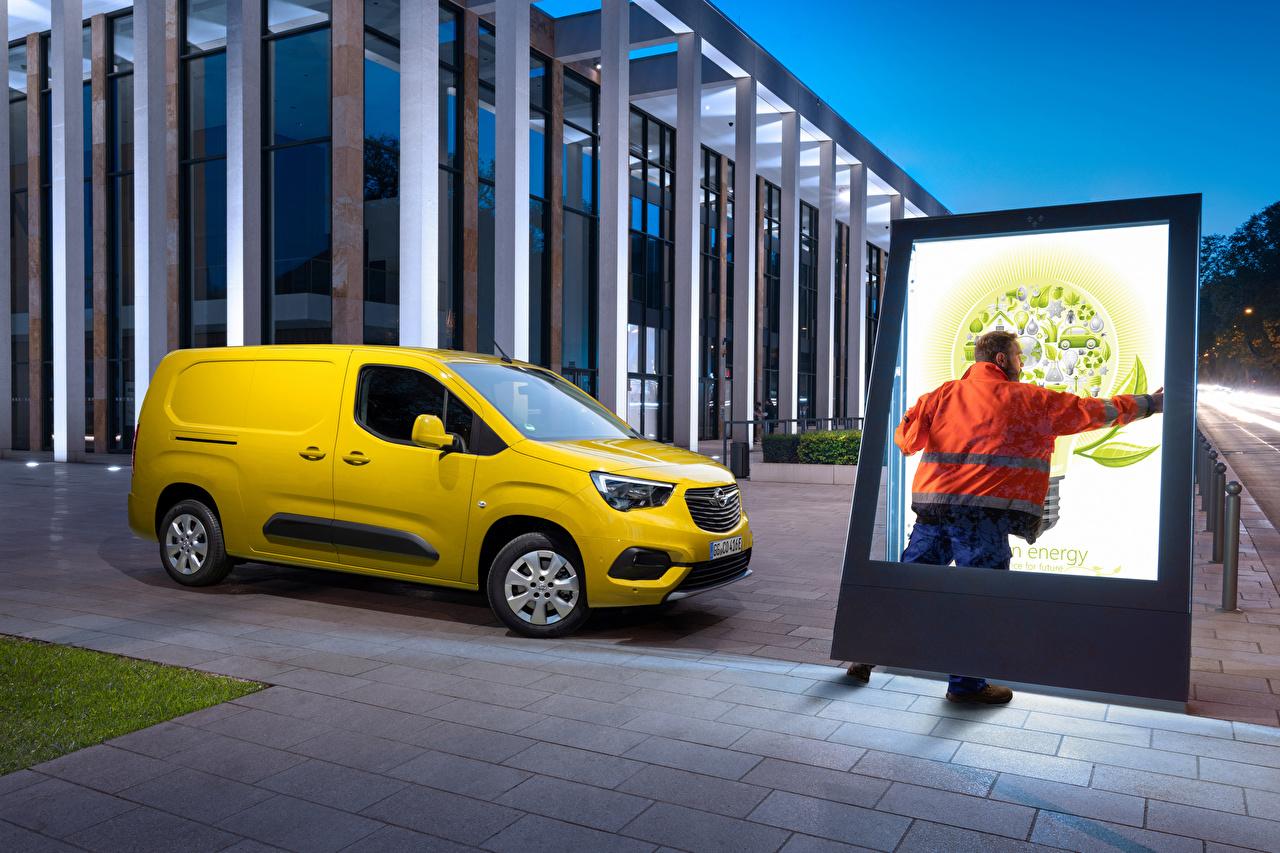 Bilder von Opel Combo-e Cargo XL, (Worldwide), 2021 Kleintransporter Gelb Autos Metallisch auto automobil