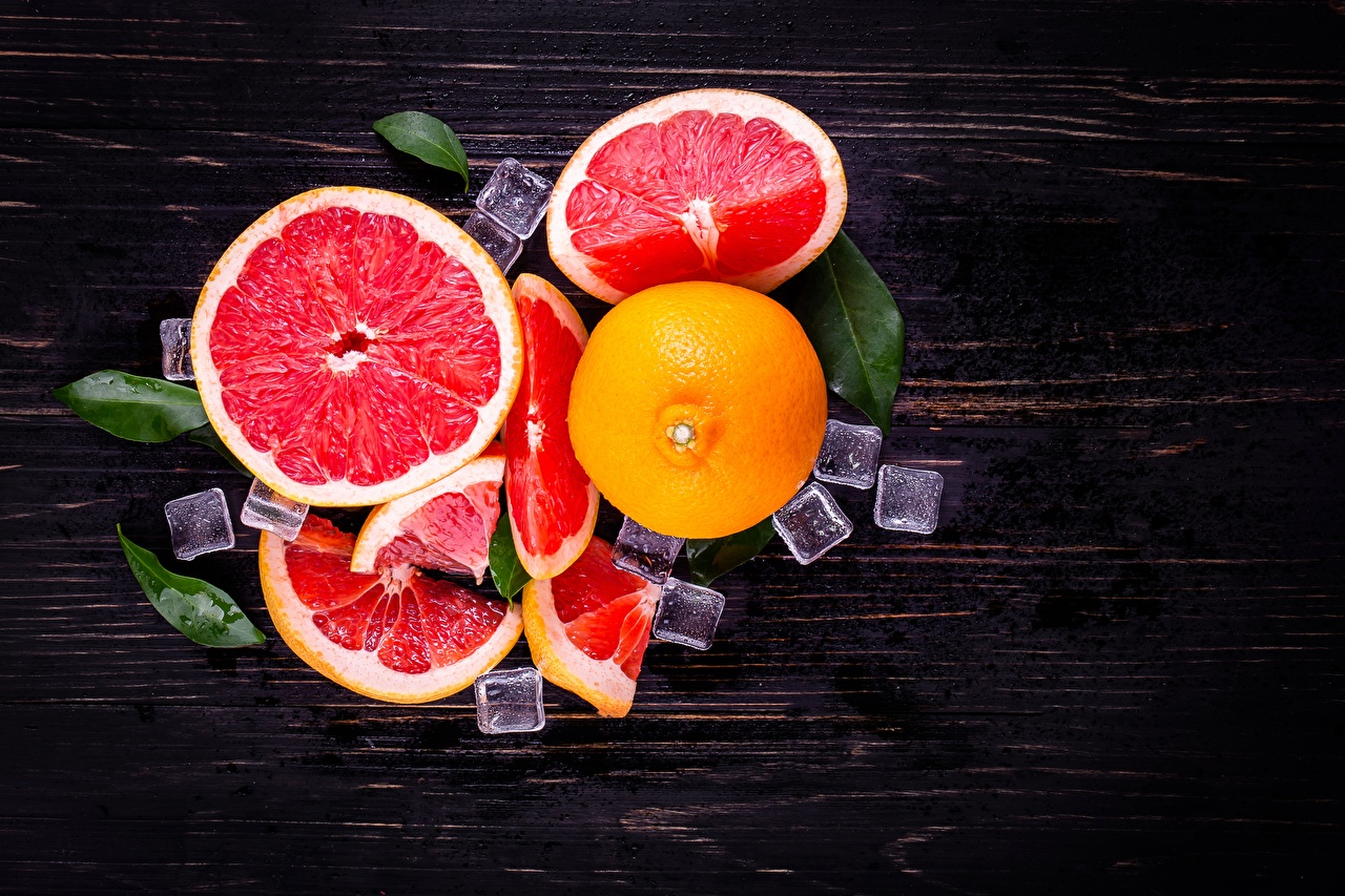 Photo Ice Grapefruit Food