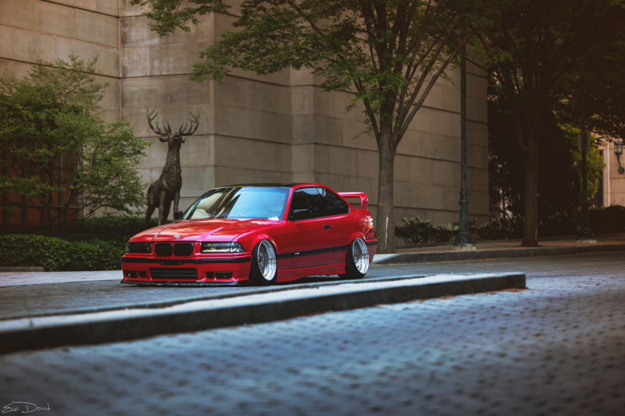 Images BMW E36 Red auto Cars automobile