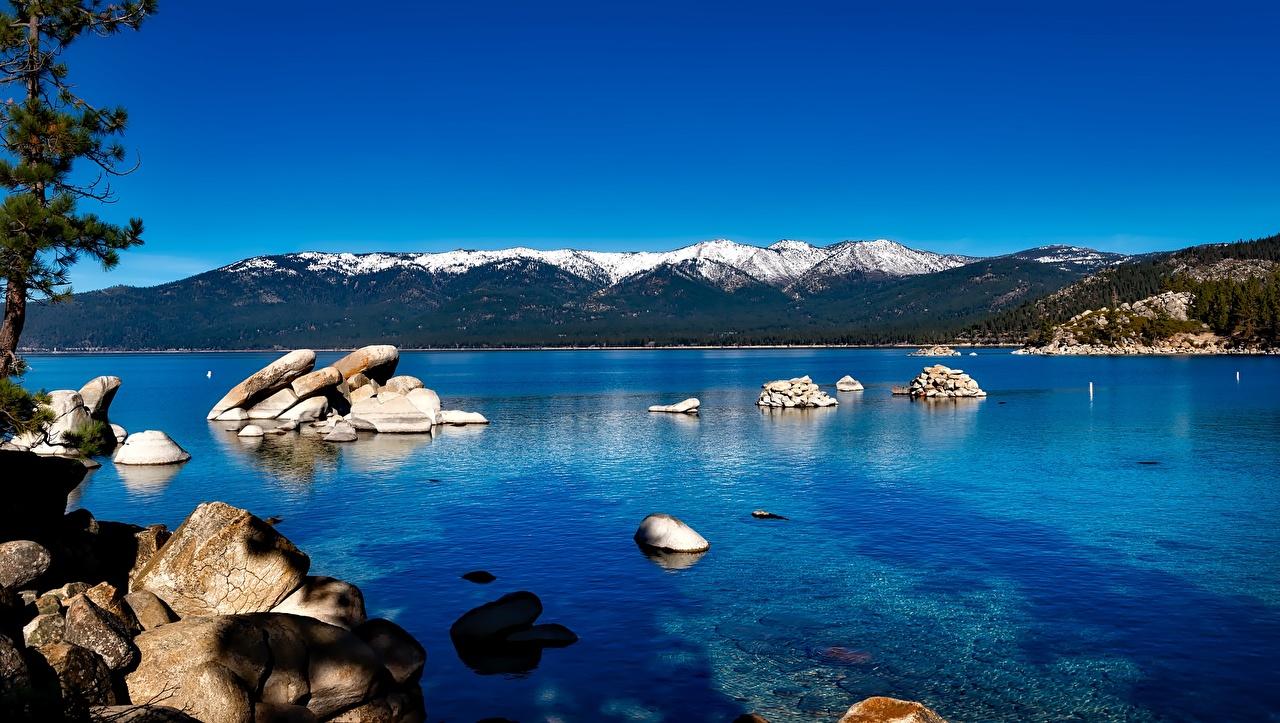 Desktop Wallpapers California Usa Lake Tahoe Sierra Nevada Nature