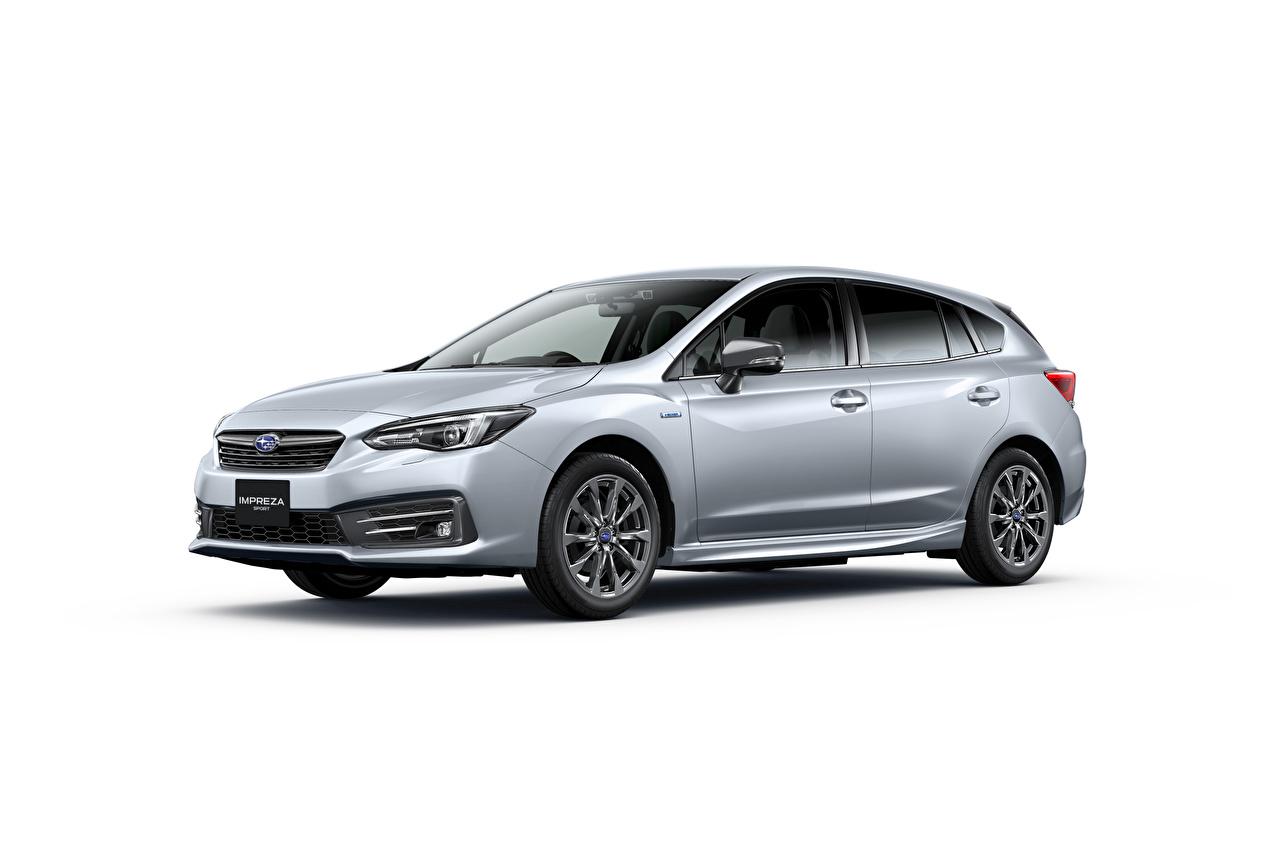 Bilder von Subaru Impreza Sport e-Boxer, JP-spec, 2020 Silber Farbe automobil Metallisch Weißer hintergrund auto Autos