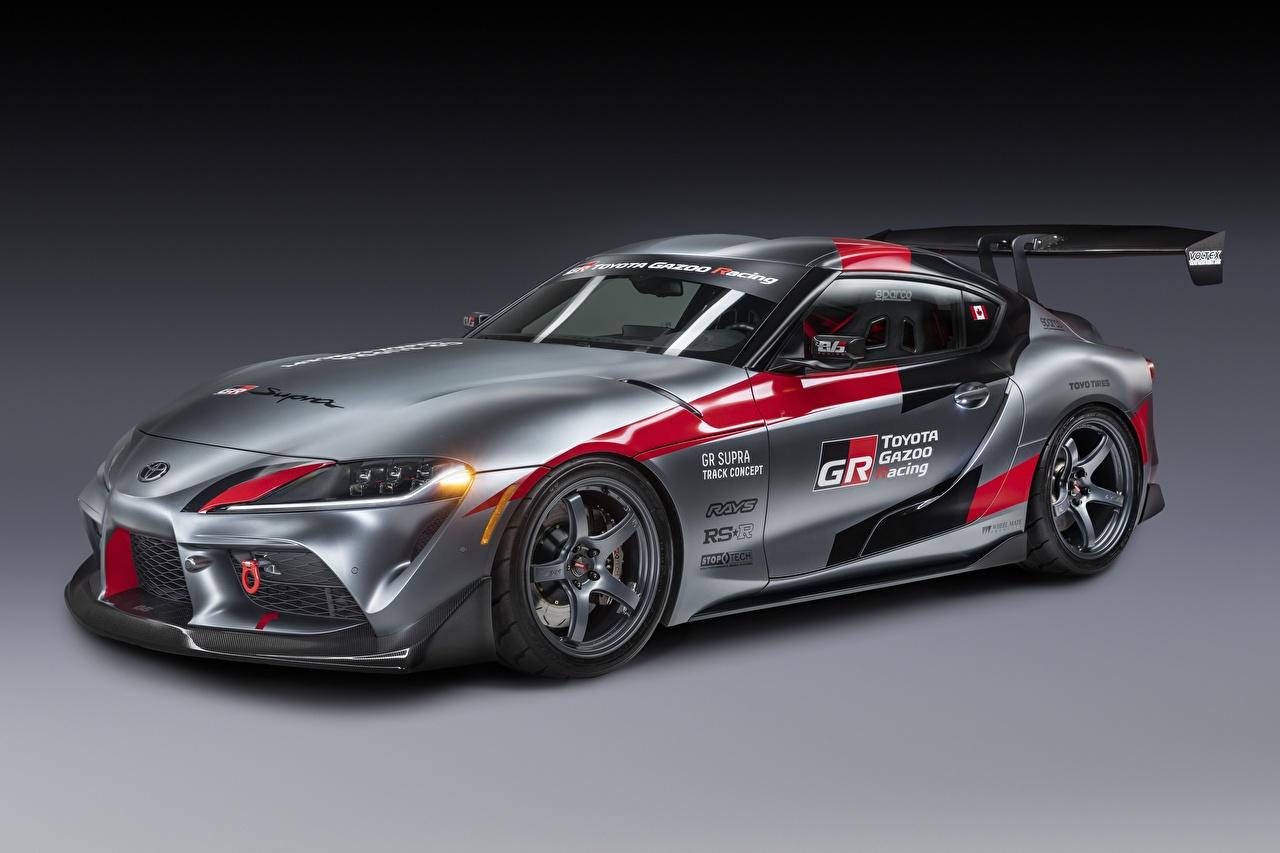 Toyota GR Supra Track Concept, 2020 Cinza Coupe carro, automóvel, automóveis Carros