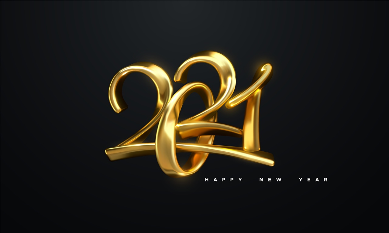 Images Christmas English 2021 text Black background New year lettering Word - Lettering