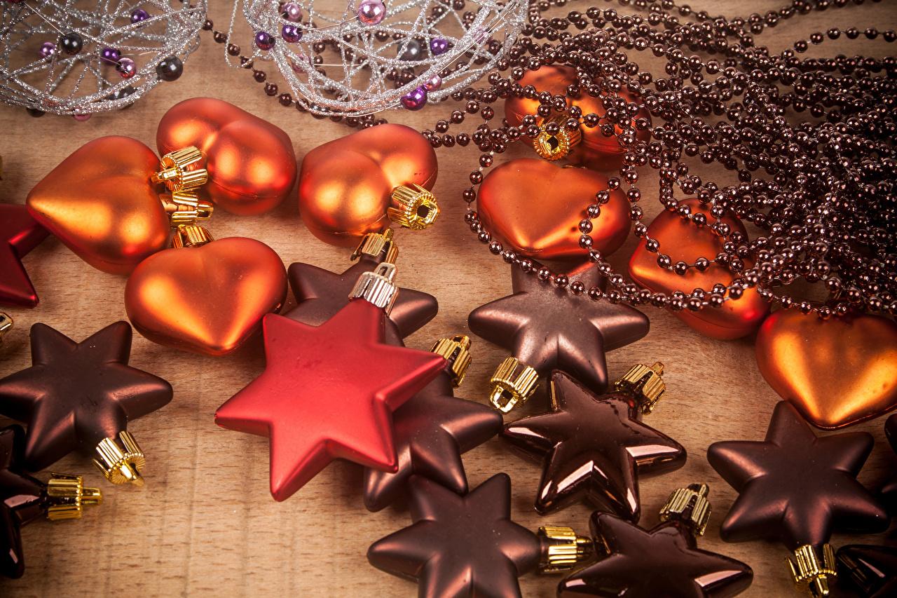 Desktop Wallpapers Christmas little stars Heart Holidays New year Star decoration