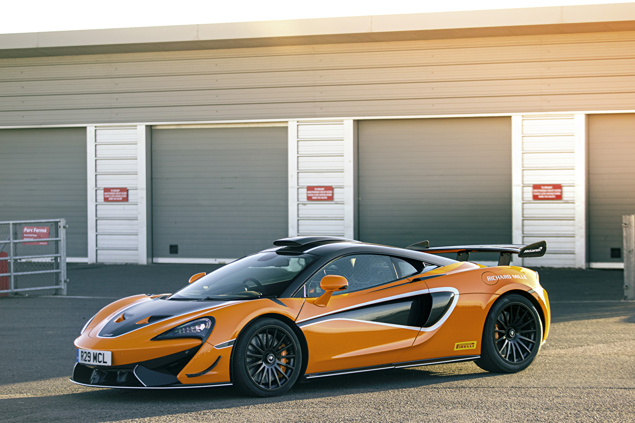 Wallpaper McLaren 2020-21 620R Orange auto Metallic Cars automobile