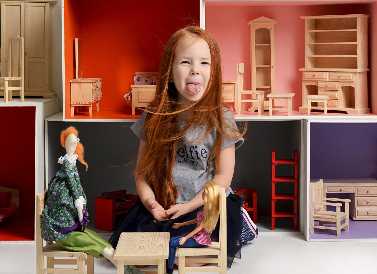 Brinquedos Menina Língua Ruivo Meninas criança, brinquedo Crianças
