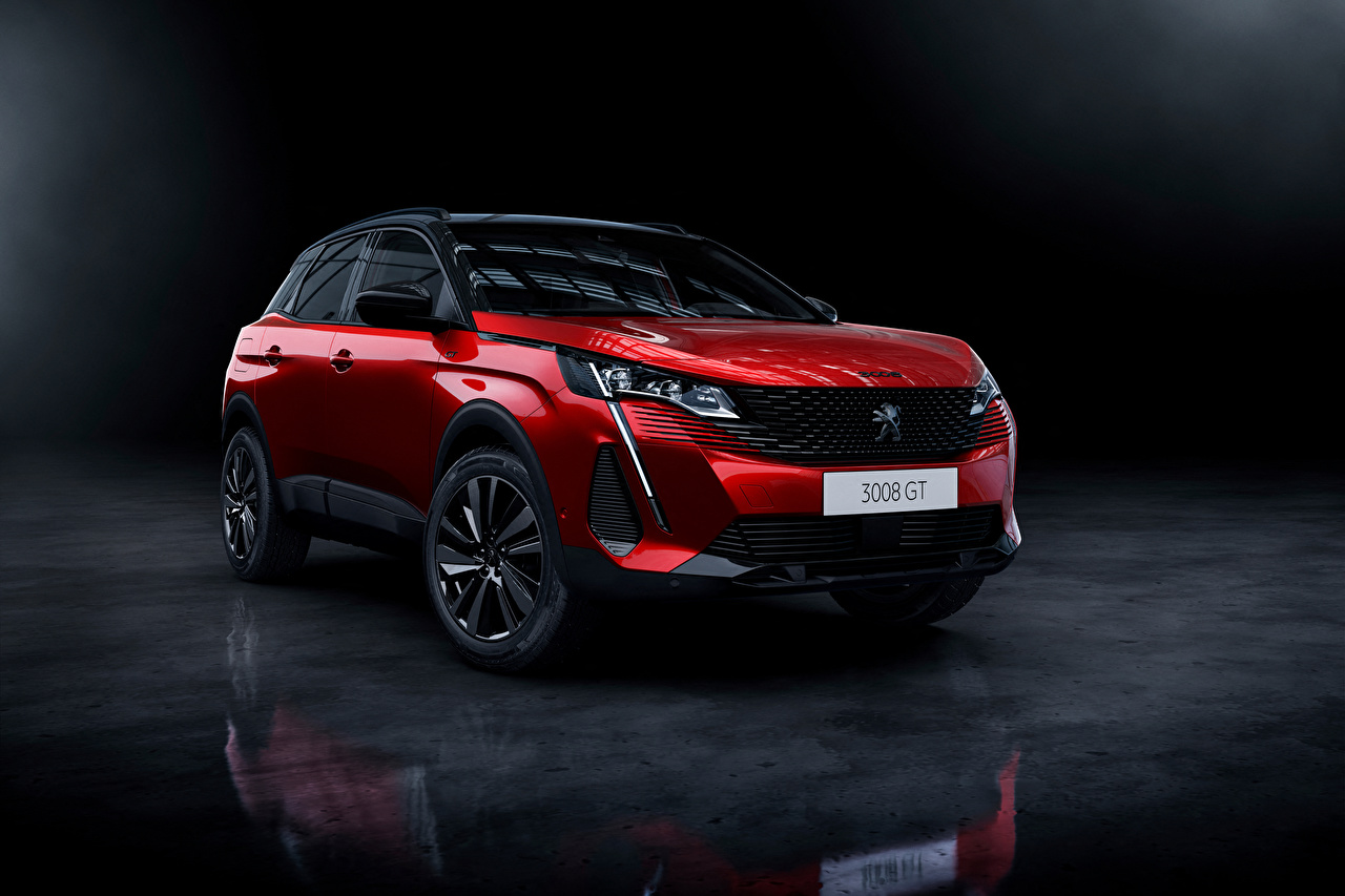 Images Peugeot CUV 3008 GT, 2020 Red Metallic automobile Crossover Cars auto