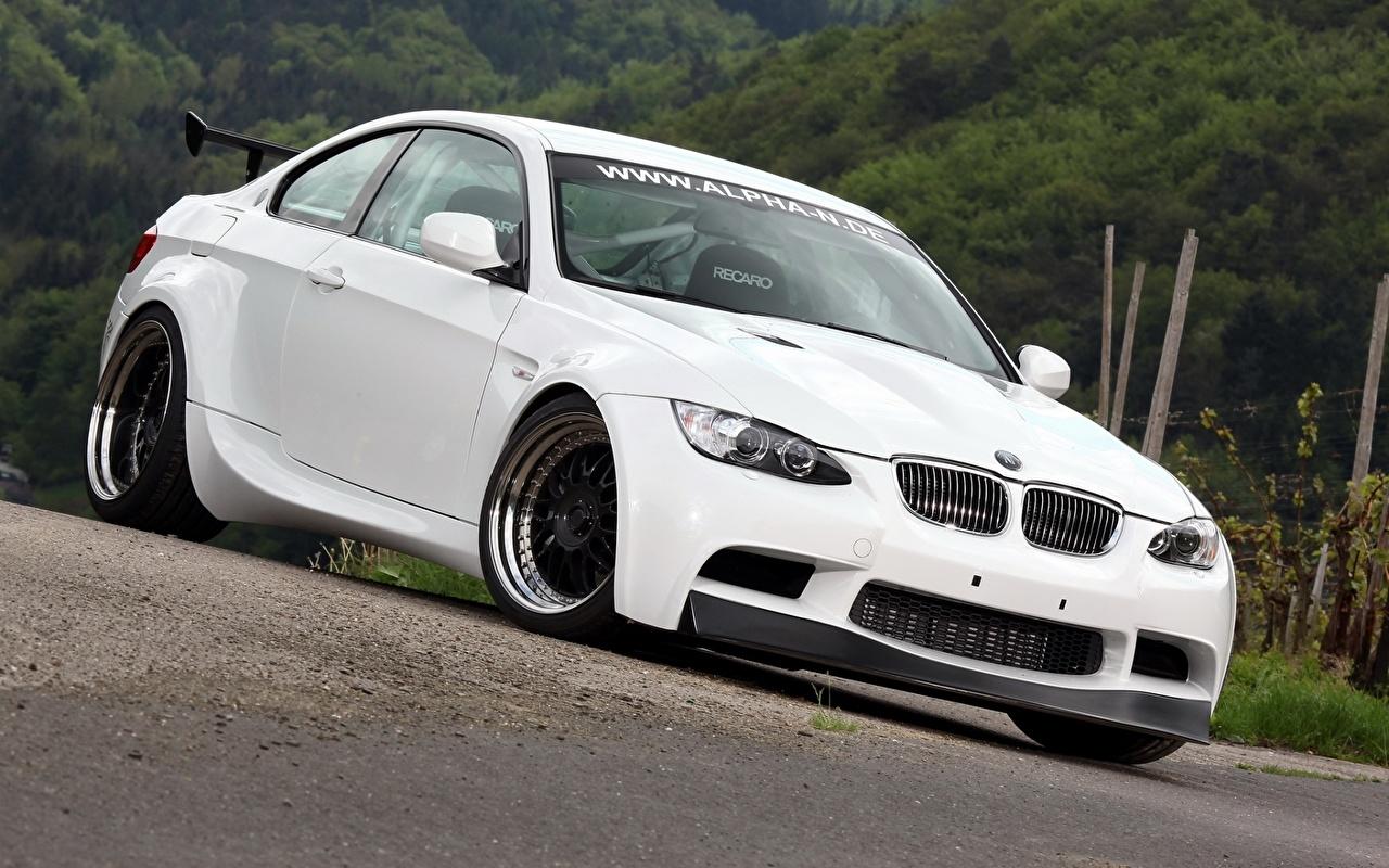 Photo BMW M3 E92 White auto Cars automobile