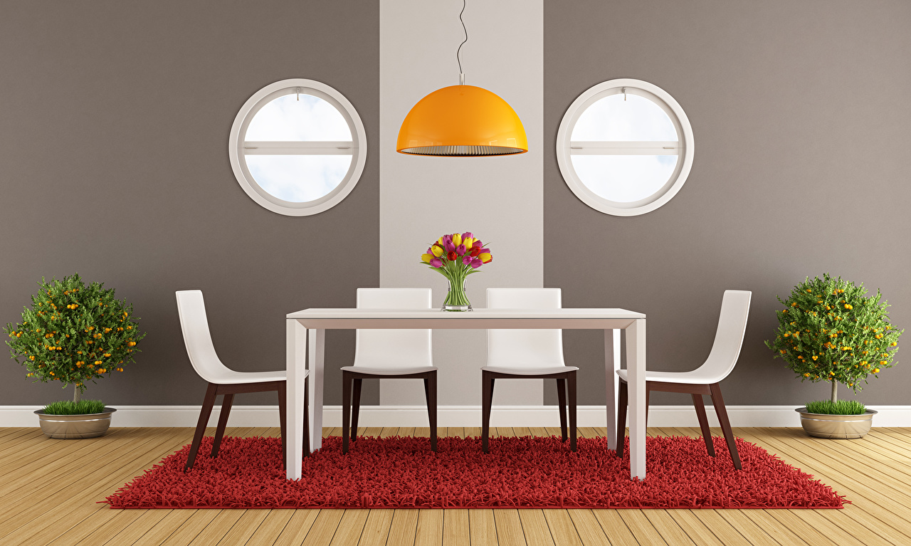 Picture 3D Graphics Interior Chair Table Chairs