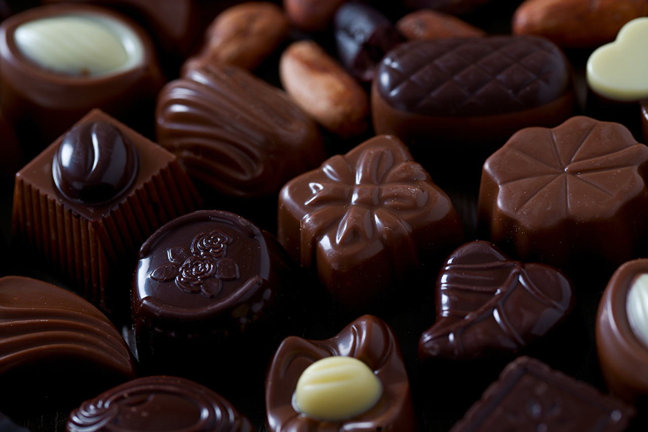 Fotos von Schokolade Bonbon das Essen Süßware Großansicht Lebensmittel Süßigkeiten
