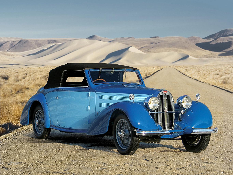 Images BUGATTI 1937 Type 57 Stelvio Desert antique Light Blue automobile Retro vintage Cars auto