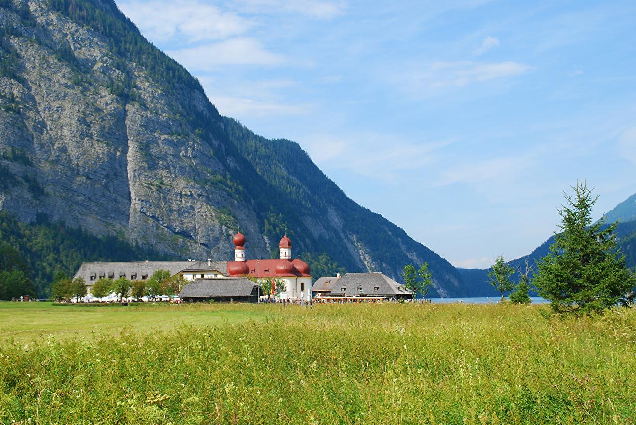 Immagini Baviera Germania Natura falesia montagna Il prato Tempio Montagne Il dirupo