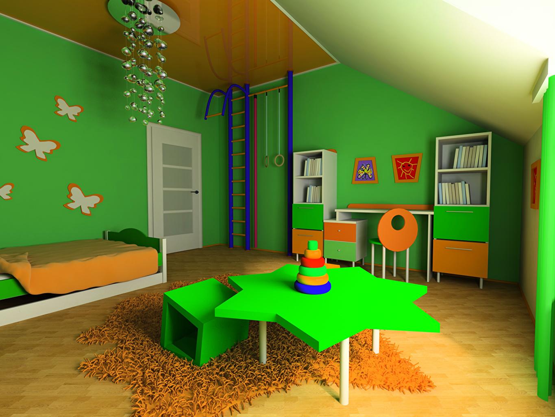Desktop Wallpapers Children's room Interior Table Design