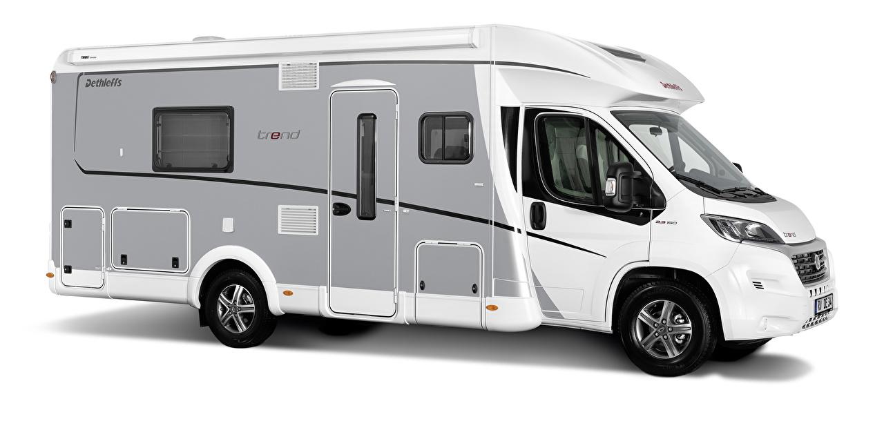 Pictures Dethleffs Trend T7017, 2015 Van Side Cars White background auto automobile