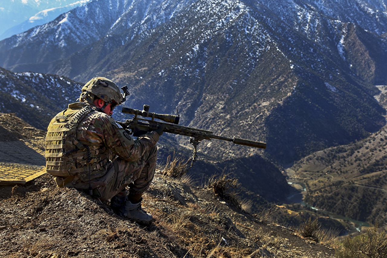 Wallpaper Sniper Rifle Snipers Soldiers Military