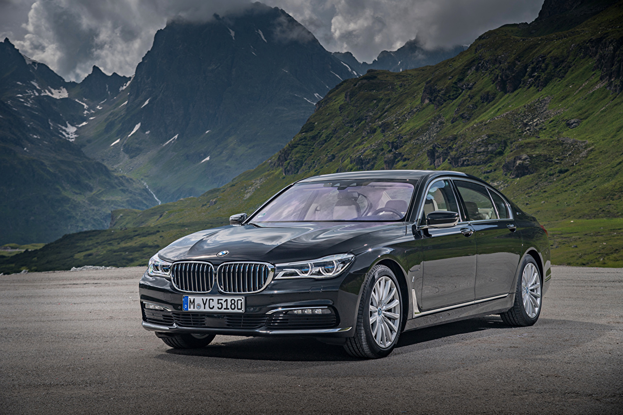 Photos BMW 2015-16 740Le Mountains Cars Metallic mountain auto automobile