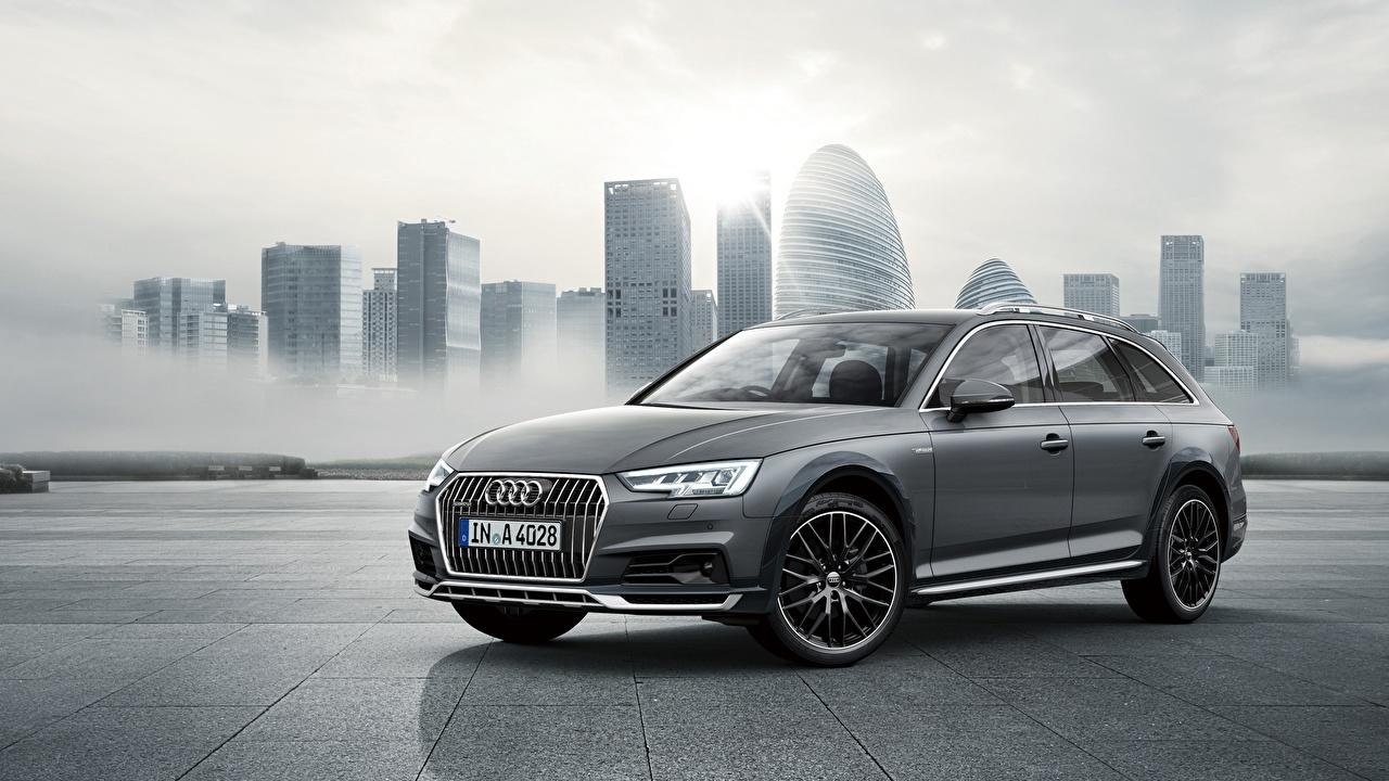 Images Audi Estate car A4 Allroad Quattro, TFSI Grey automobile Station wagon gray Cars auto