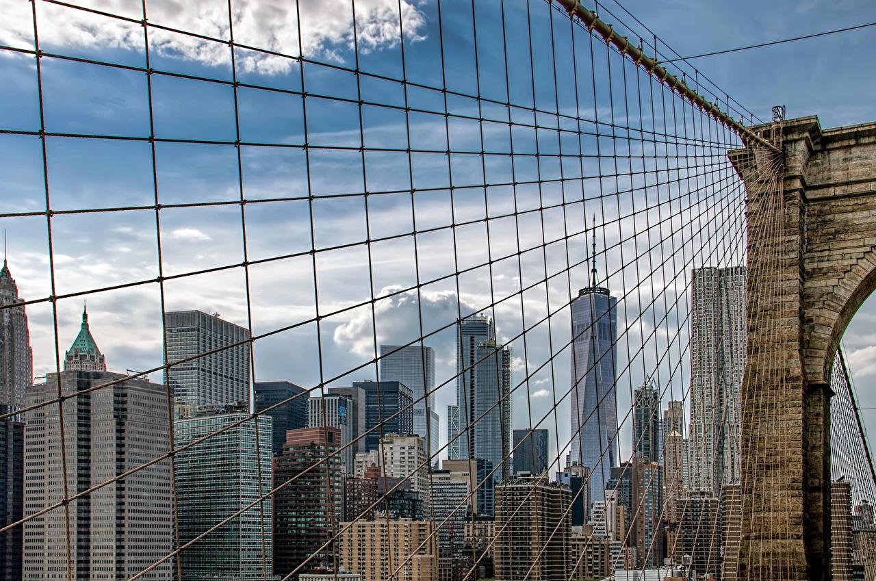Wallpaper New York City Usa Brooklyn Bridge Bridges Cities