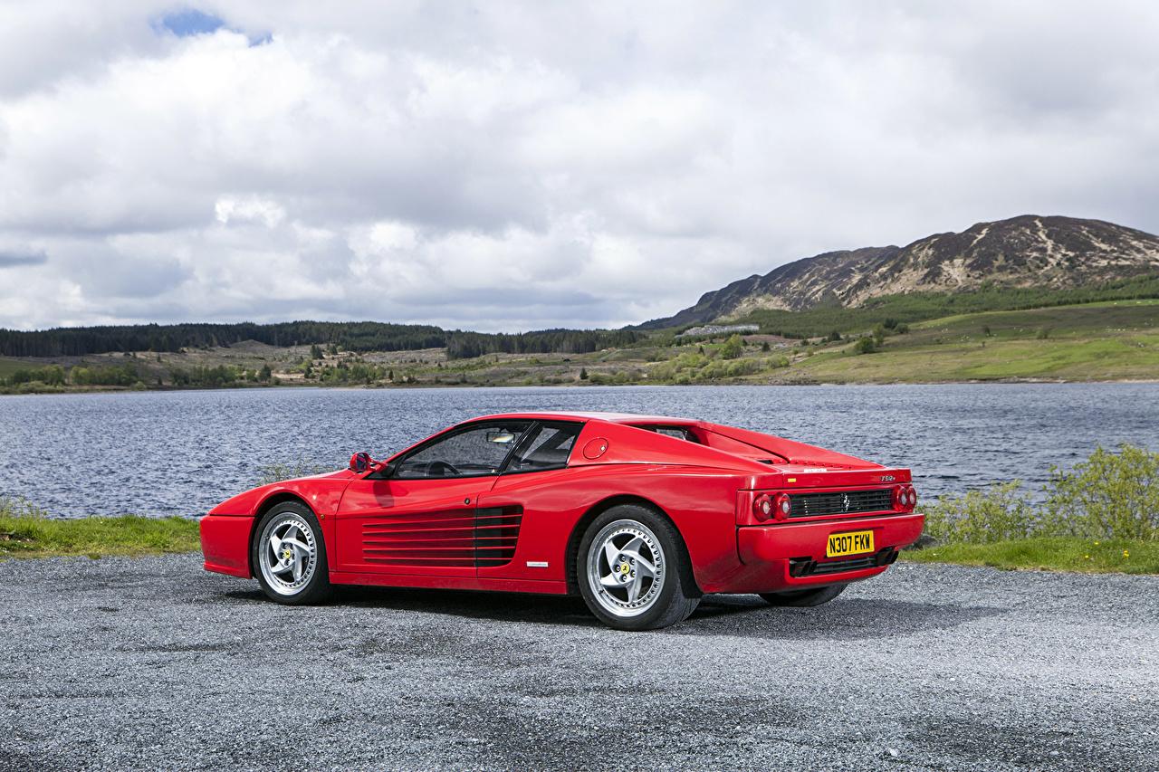 Desktop Wallpapers auto Ferrari 1996 F512 M Pininfarina Red Cars automobile
