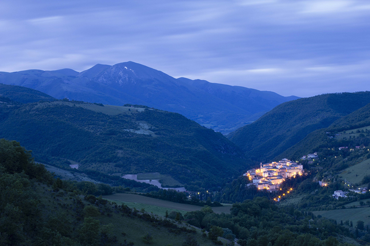 Photo Italy Umbria Nature Mountains Scenery mountain landscape photography