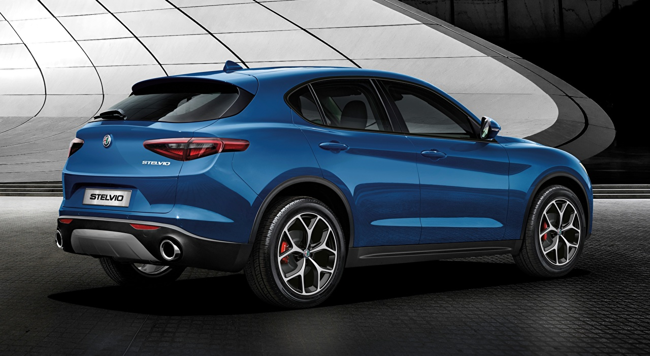 Alfa Romeo Stelvio, Sport, 2018 Crossover Bleu voiture, automobile Voitures