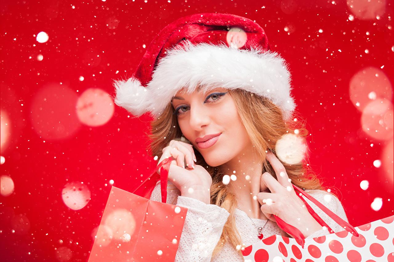 Fondos de Pantalla Día festivos Año Nuevo Niñas Dos