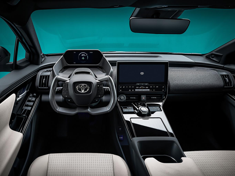 ,丰田汽车,汽車內飾,bZ4X Concept, 2021,方向盘,跨界休旅車,汽车,